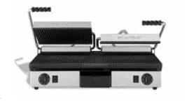 Kontakt grill bordás két fedlapos (olasz)