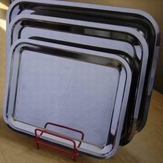 Vékony Inox tálca 40x32,5x2 cm