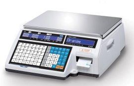 CAS CL5200J CB 15 kg-os lapos, címkenyomtatós rendszermérleg.