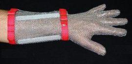 Alkarvédős lánckesztyű acélkarikás 5 ujjas, zöld, tanulóknak, kis kézre XS-s