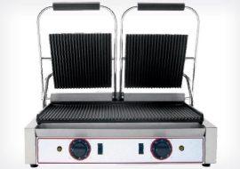 Kontakt grill bordás két fedlapos  (Beckers)