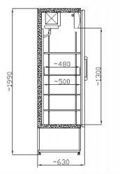 SCH 601 INOX - Rozsdamentes hűtővitrin