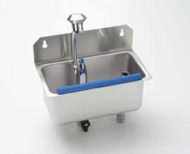 Stöckel Fagylaltkanál mosogató, falra szerelhető, vízcsatlakozással,tussal (kanálmosó)
