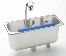 Stöckel Fagylaltkanál mosogató, pultba építhető, vízcsatlakozással, tussal (kanálmosó)