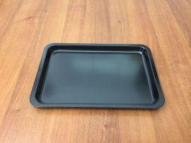 Fekete tálca 30 X 20 X 2 cm-es (műanyag/melamin)
