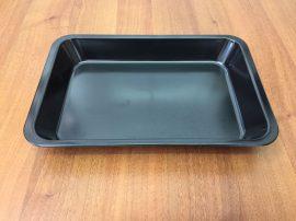 Fekete tálca 30 X 20 X 4 cm-es (műanyag/melamin)