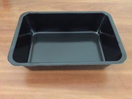 Fekete tálca 30 X 20 X 8 cm-es (műanyag/melamin)