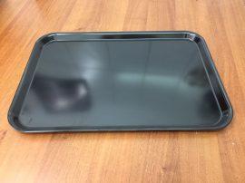 Fekete tálca 45 X 31 X 2 cm-es (műanyag/melamin)