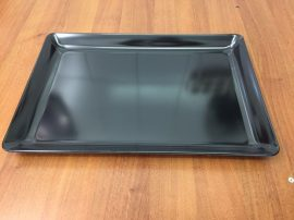 Fekete tálca 45 X 31 X 4 cm-es (műanyag/melamin)